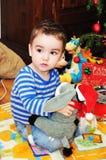 Portrait mignon de petit garçon Photographie stock libre de droits