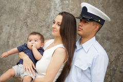 Portrait of a military family Royalty Free Stock Images