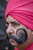 Portrait of military men take part in rehearsal activities for the upcoming India Republic Day parade. New Delhi, India. NEW DELHI, INDIA - JANUARY 23, 2017 Stock Photos