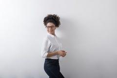 Portrait of millennial businesswoman. Smiling Stock Image