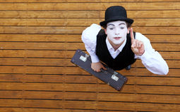 Portrait of the mime Stock Image