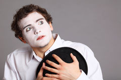 Portrait of the mime Stock Photo