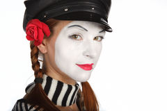 Portrait of mime Stock Image