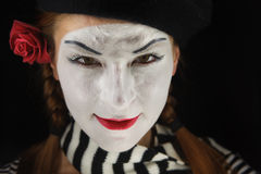 Portrait of mime Stock Photography