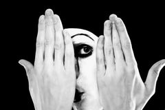 Portrait of the mime royalty free stock photography