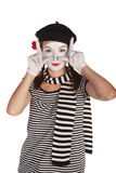 Portrait of a mime comedian Royalty Free Stock Image