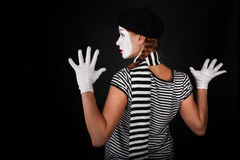 Portrait of a mime girl Royalty Free Stock Photography