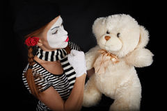 Portrait of a mime girl Royalty Free Stock Photos