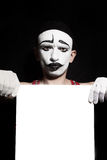 Portrait of mime Stock Images
