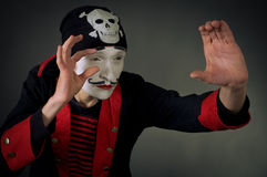 Portrait of mime pirate Royalty Free Stock Photo