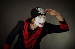 Portrait of mime pirate Stock Images