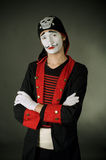 Portrait of mime pirate Stock Photos