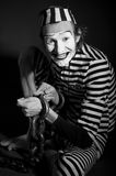 Portrait of mime prisoner Royalty Free Stock Image