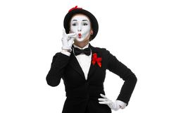 Portrait of the mime representing something very Stock Images