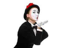 Portrait of the mime Royalty Free Stock Images
