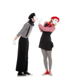 Portrait of mimes Stock Images