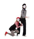Portrait of mimes Royalty Free Stock Images