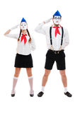 Portrait of mimes Stock Photos
