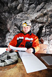 Portrait of a mine worker Royalty Free Stock Image