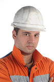 Portrait of a mine worker Royalty Free Stock Images
