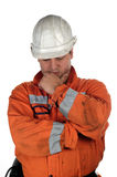 Portrait of a miner Stock Photos
