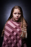 Portrait of a miserable little girl Royalty Free Stock Photography