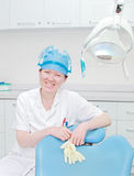 Portrait of a miss dentist Royalty Free Stock Photos