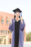 Portrait of a miss graduate royalty free stock images