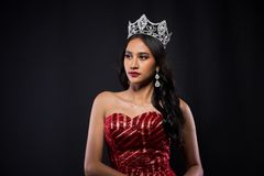 Portrait of Miss Pageant Contest in Asian woman stock photography
