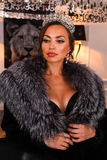 Portrait of Miss Russian Universe 2015 contest winner Yulia Krutova Stock Photo
