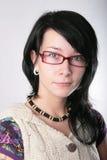 Portrait mit Gläsern Stockfoto