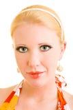 Portrait mit Lippenstift Lizenzfreie Stockfotos