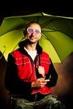 Portrait mit Regenschirm Lizenzfreie Stockfotos