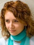 Portrait mit Schal Stockfotografie