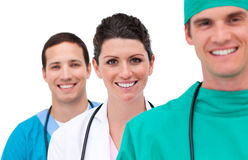 Portrait of a mixed medical team Stock Image