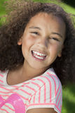 Portrait of Mixed Race African American Girl Royalty Free Stock Photos
