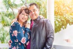 Portrait of Mixed Race Caucasian Woman and Hispanic Man royalty free stock photography