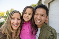 Mixed race family. royalty free stock images