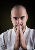 Portrait of MMA master in kimono