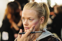 Portrait of model in the make up room Royalty Free Stock Photography