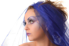 Portrait of a model with an unusual makeup Royalty Free Stock Photography