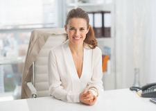 Portrait of modern business woman in office Royalty Free Stock Image
