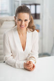 Portrait of modern business woman in office Royalty Free Stock Images