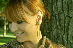 Portrait of modern girl Stock Images