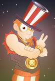 Portrait of Modern Uncle Sam. Vector Illustration of Cartoon 4th of July Uncle Sam Character Pose and Expression vector illustration