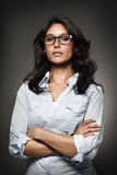 Portrait of a modern woman with glasses Stock Photos