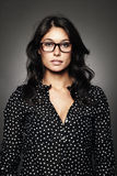 Portrait of a modern woman with glasses Stock Image