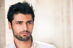 Portrait modèle beau d'homme Espoir et succès Photos libres de droits