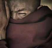 Portrait of a monk, Hemis monastery. Ladakh. India Royalty Free Stock Photography
