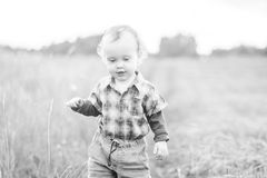 Portrait monochrome d'enfant Photo stock